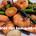 Langostinos con kumquat curado #receta