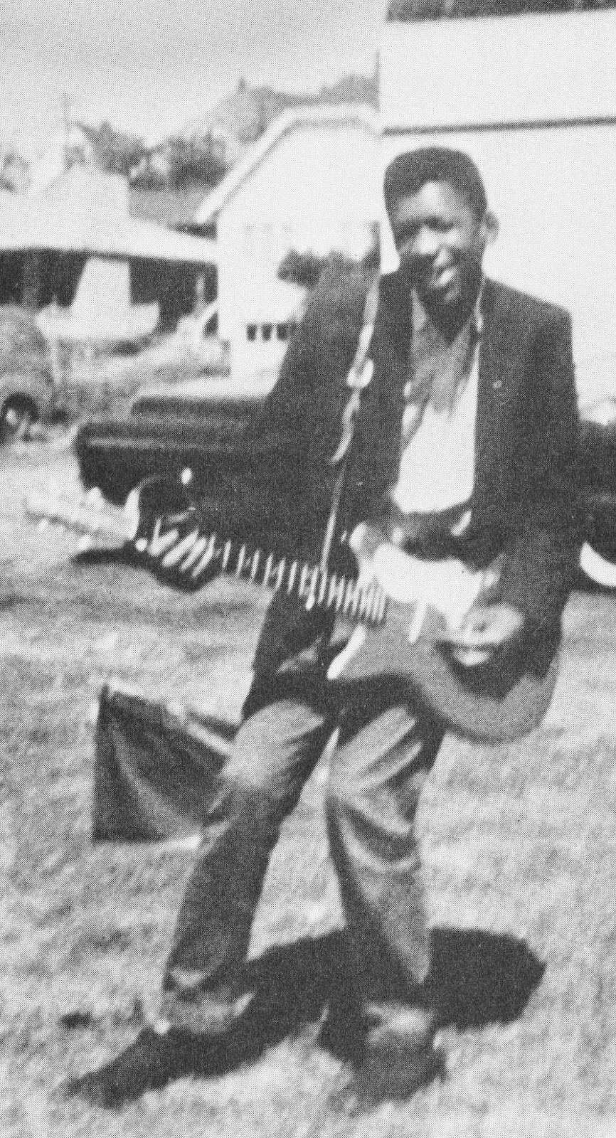 Jimi Hendrix With His First Electric Guitar In Seattle