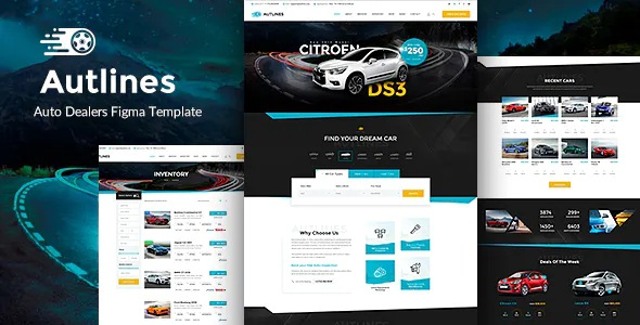Best Autodealer and Tuning Auto Figma Template