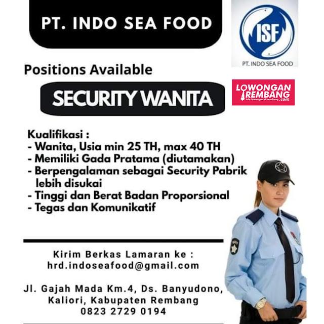 Lowongan Kerja Security Wanita PT Indo Seafood Rembang