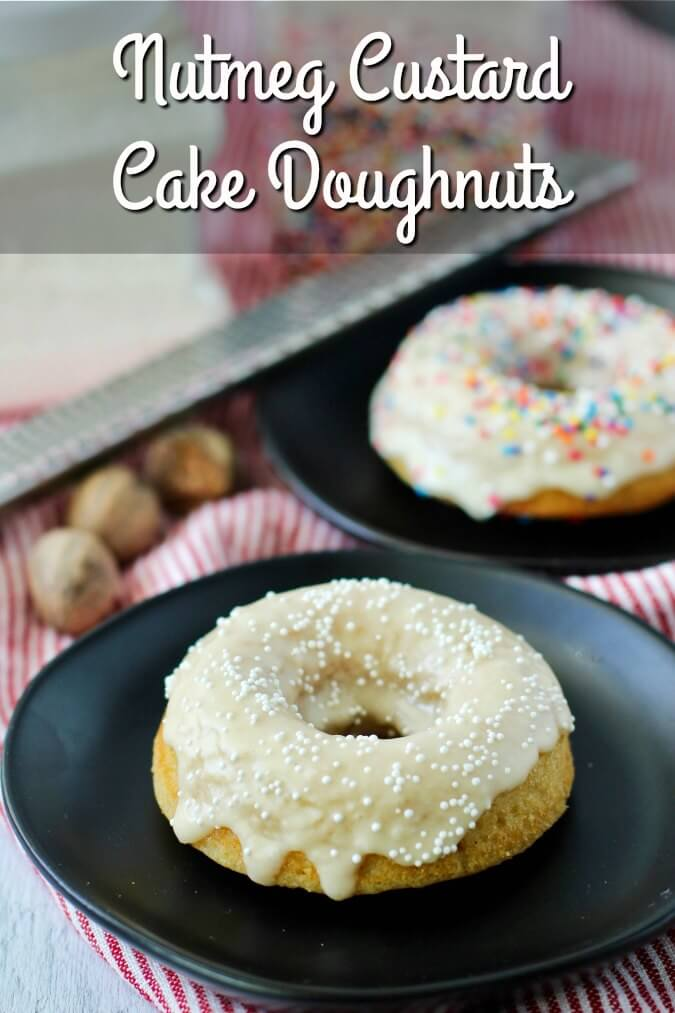 Cake doughnuts with sprinkles
