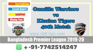cricket prediction 100 win tips Cumilla vs Khulna