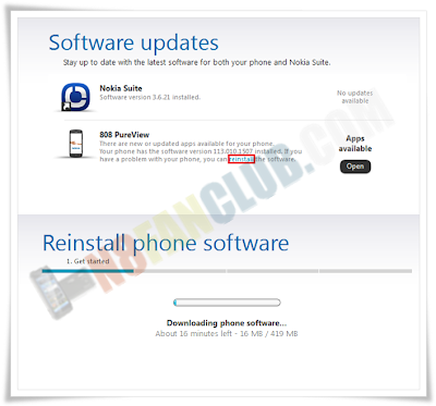 How to re-install firmware on Belle Smart Phone with Nokia Suite?