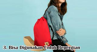 Bisa Digunakan Untuk Berpergian merupakan manfaat dan fungsi tas serut untuk sehari-hari