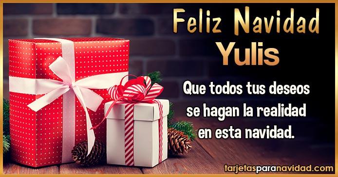 Feliz Navidad Yulis