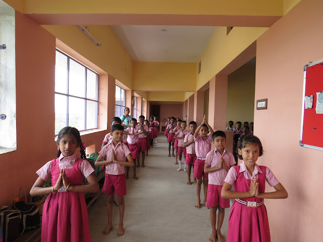 International Yoga Day Demonstration in Sri Durga School