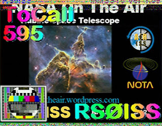 slow scan television amateur radio space station