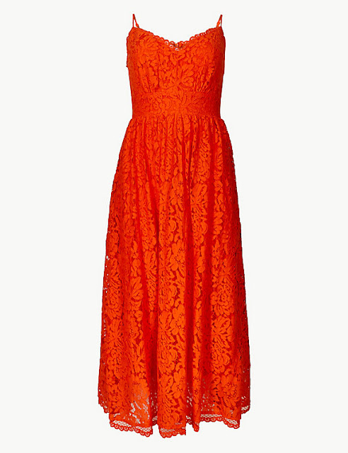 marks and Spencer lace fit & flare midi dress