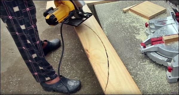 corte de madeira do deck