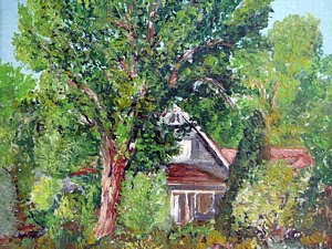 Lesher Homestead in Boulder Colorado by Boulder artist Tom Roderick