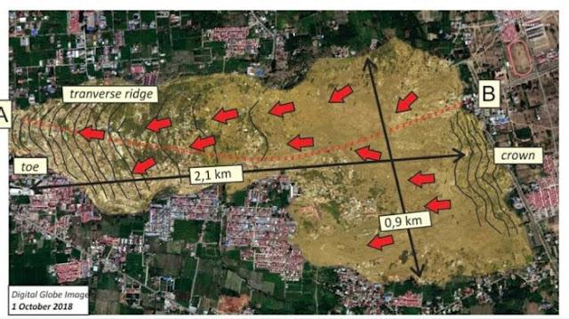 Foto Pantauan Satelit Likuifaksi Gempa Palu