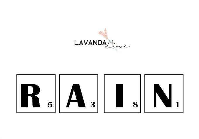plantilla para crear la palabra rain de scrabble