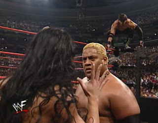 WWE / WWF Unforgiven 2000 - Rikishi confronts Chyna while Eddie Guerrero gets set to pounce