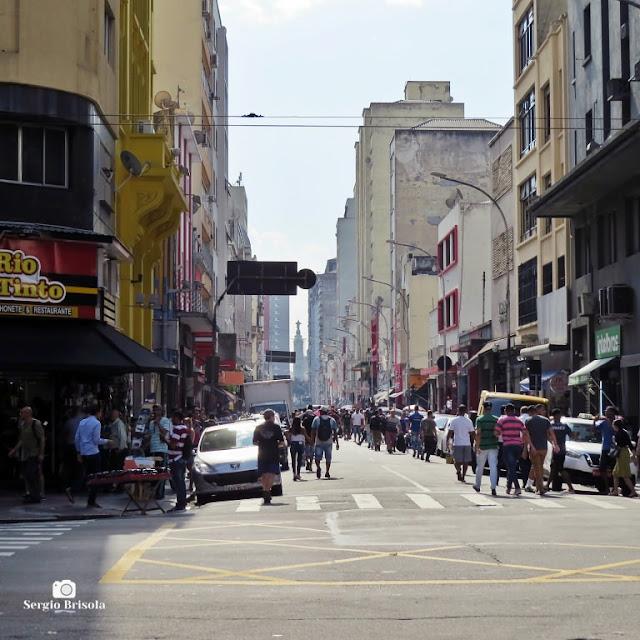 Vista de trecho da Rua Santa Ifigênia - Santa Ifigênia - São Paulo