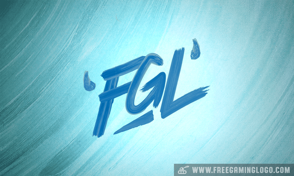 FGL hand lettering signature design