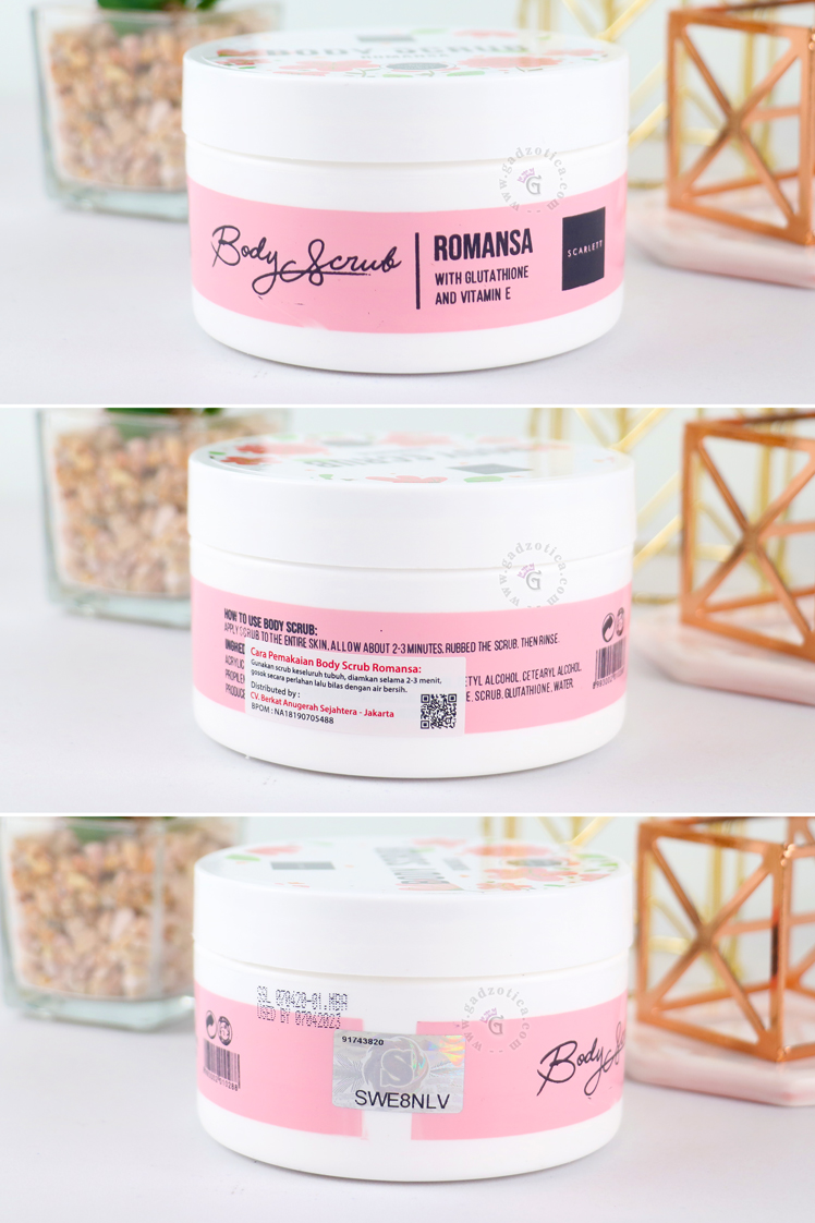 REVIEW SCARLETT BODY SCRUB ROMANSA