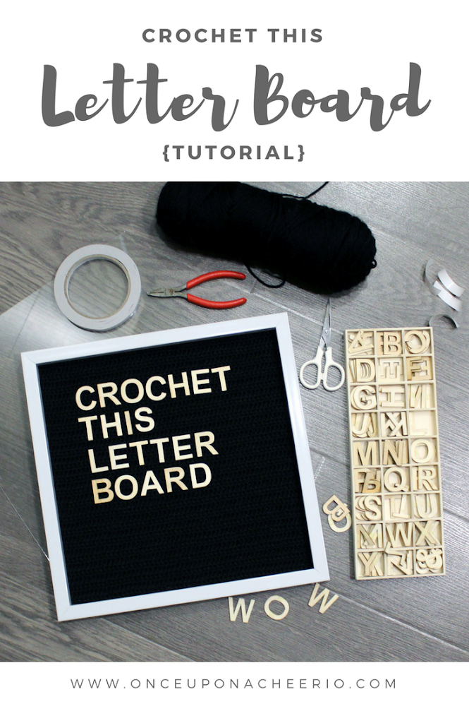 How to DIY Crochet this Letter Board Tutorial