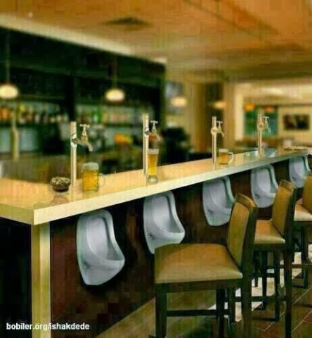 urinals at the bar