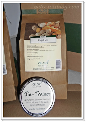 alsa Tin-Trainer und 1 kg alsa-nature Kugel-Mix