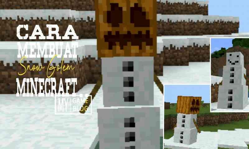 Cara Membuat Snow Golem Di Minecraft Pe Gamelmit