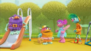 Abby's Flying Fairy School Playground Troll, Abby Cadabby Blögg Gonnigan Mrs. Sparklenose, Sesame Street Episode 4311 Telly the Tiebreaker season 43