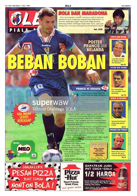ZVONIMIR BOBAN CROATIA VS FRANCE WORLD CUP 1998 SEMIFINAL