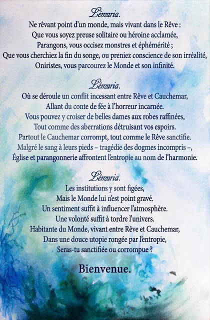 Poème de Bienvenue à Lémuria © Cherche-Rêves
