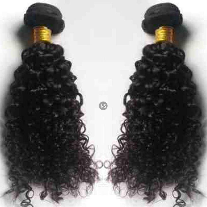 Ladies Hair Virgin Extensions: Curly Natural Brazilian Hair Bundles