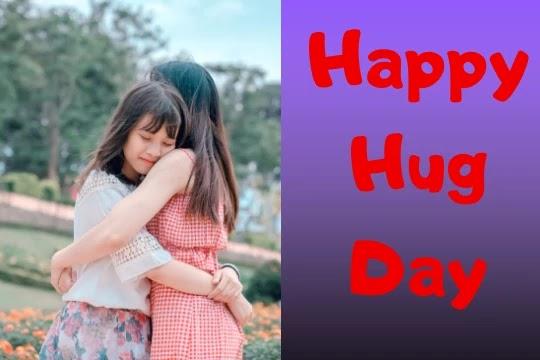 sisters happy hug day