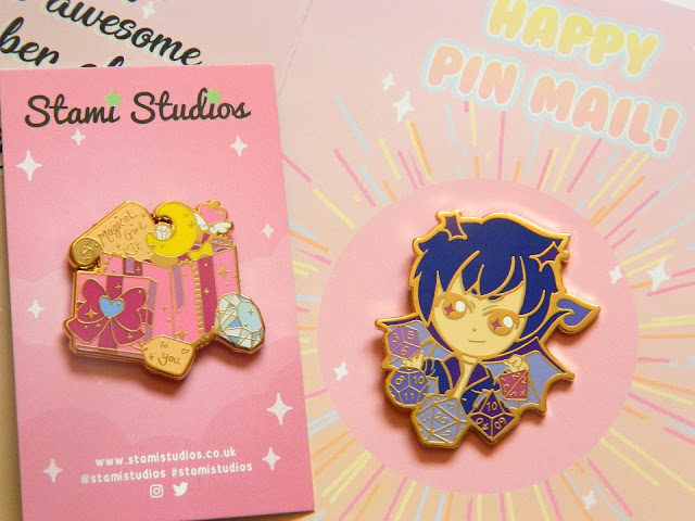 Cute little demon pin and magical girl kit pin by Stami Studios