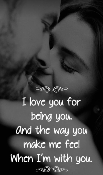 I LOVE YOU FOR BEING YOU | Quotes and Sayings