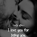 I LOVE YOU FOR BEING YOU