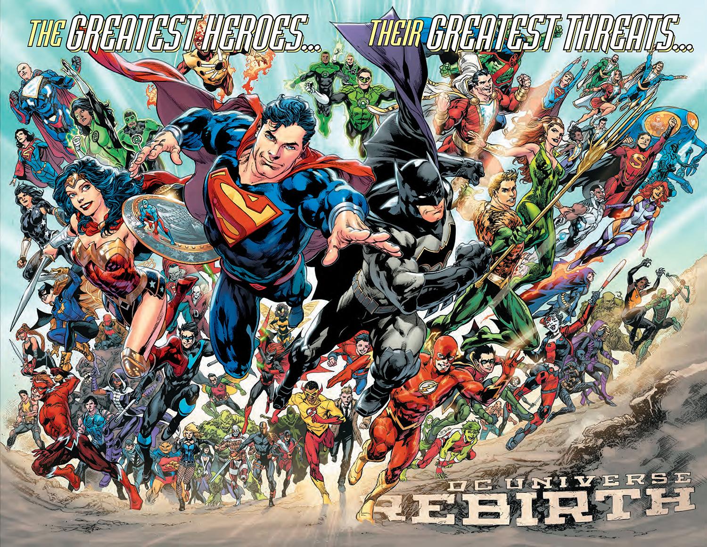 Teaser de DC Universe: Rebirth, DC Comics, 2016.