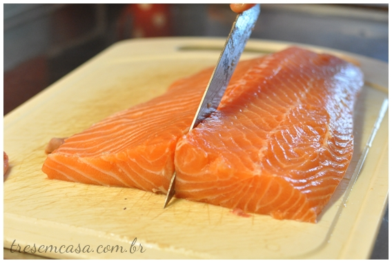 passo a passo sashimi de salmão