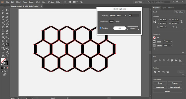 Honeycomb in Adobe Illustrator