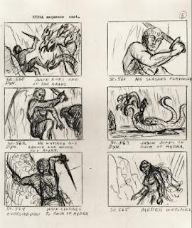 Storyboard original de la película Jasón y los argonautas