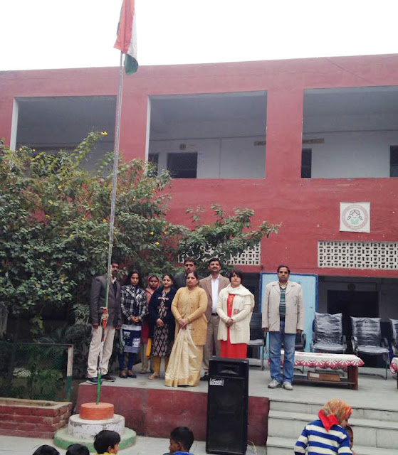 Promising daughters hoard on Republic Day at Government School, Sarai Khwaja