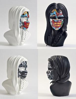La Cage Où Les Gens Pleurent Polystone Resin Bust by Sandra Chevrier x Mighty Jaxx x C.O.A. Galerie x DC Comics