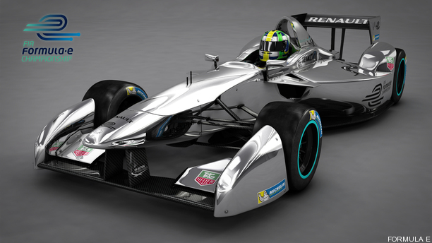 Renault Unveil Fia Formula E Race Car