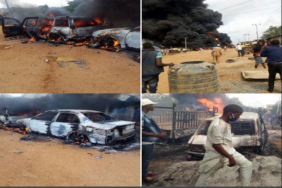 Breaking News: Two Dies As Tanker Explodes, Sparks Raging Fire In Ibadan