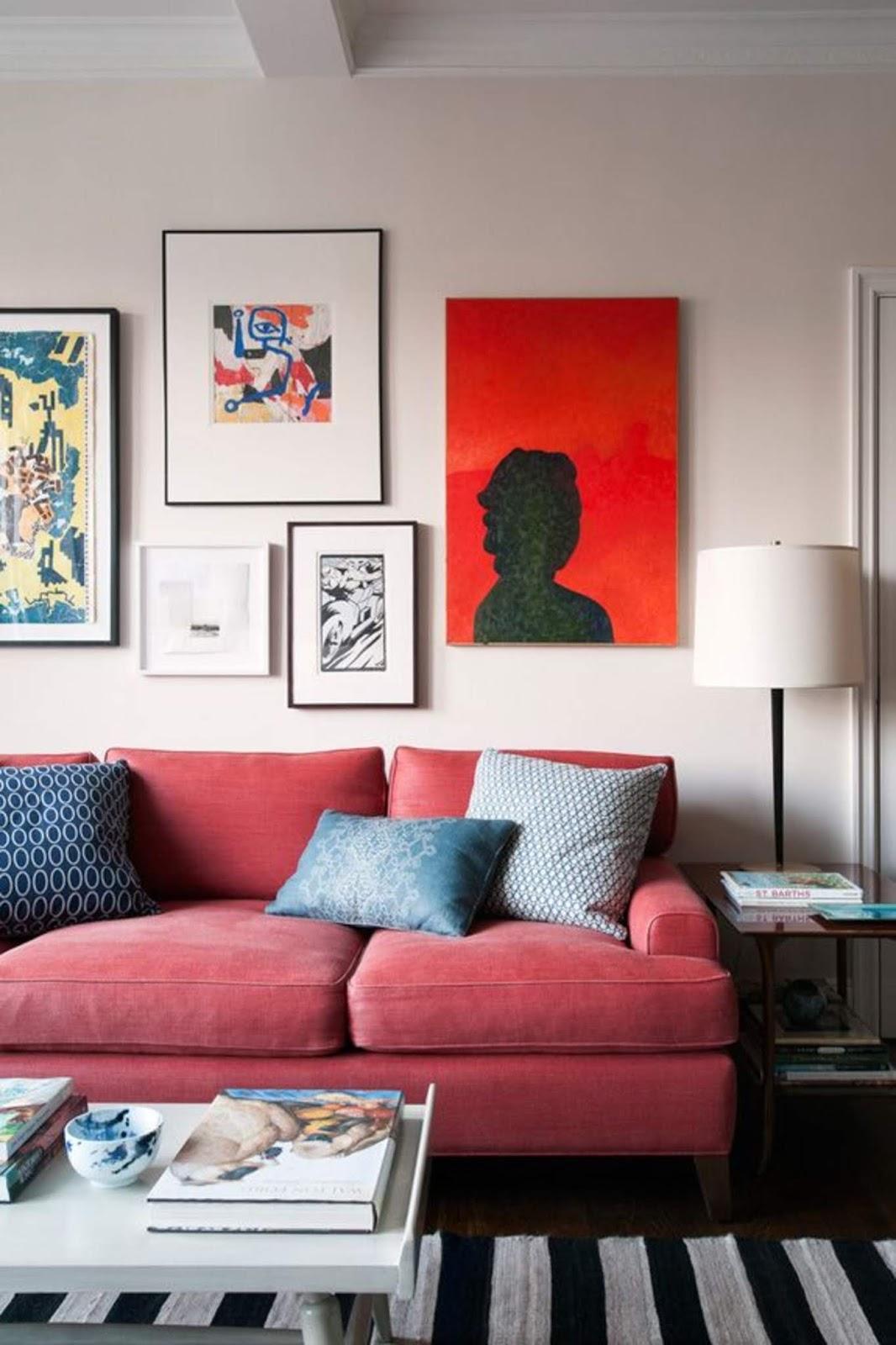 Red Sofa Living Room Decor