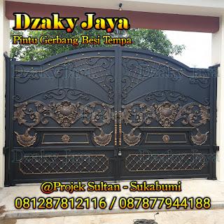 Pemasangan pagar tempa klasik di Sukabumi