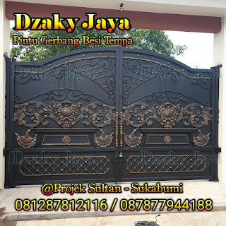 Produk pagar besi tempa, pagar klasik, pagar tempa mewah unggulan di Dzaky Jaya.