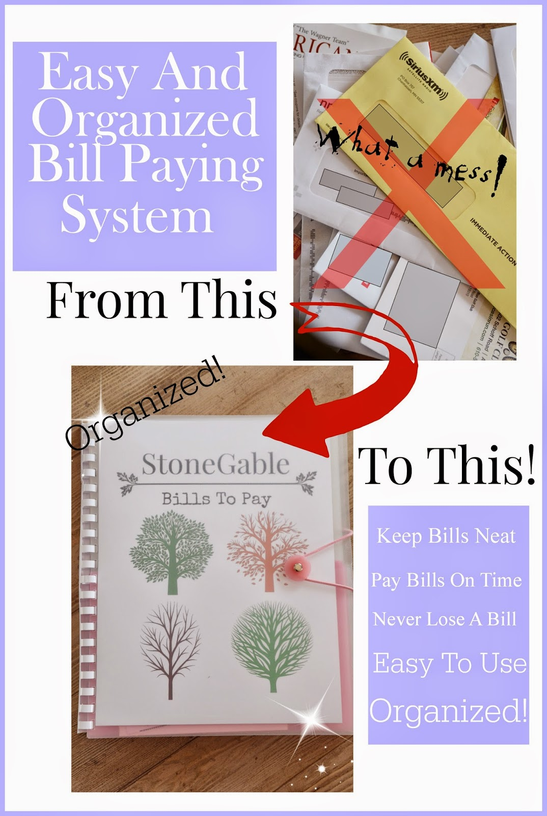 easy and organized bill paying system stonegable are your bills sandwiched between southern living magazine and the ballard design catalog and