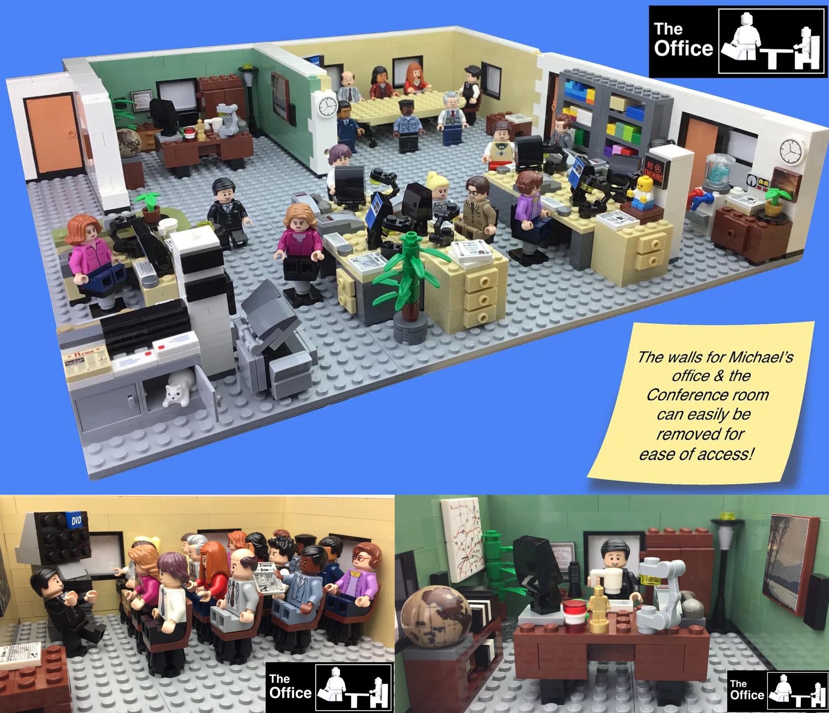 レゴアイデアで『ザ・オフィス』が製品化レビュー進出!2020年第3回1万サポート獲得デザイン紹介