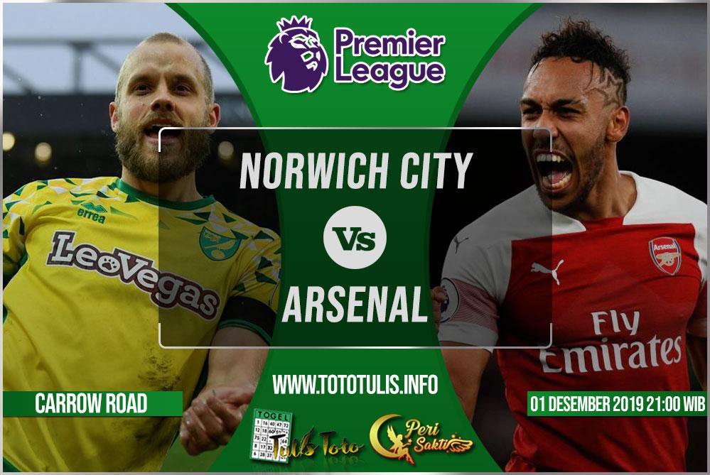 Prediksi Norwich City vs Arsenal 01 Desember 2019