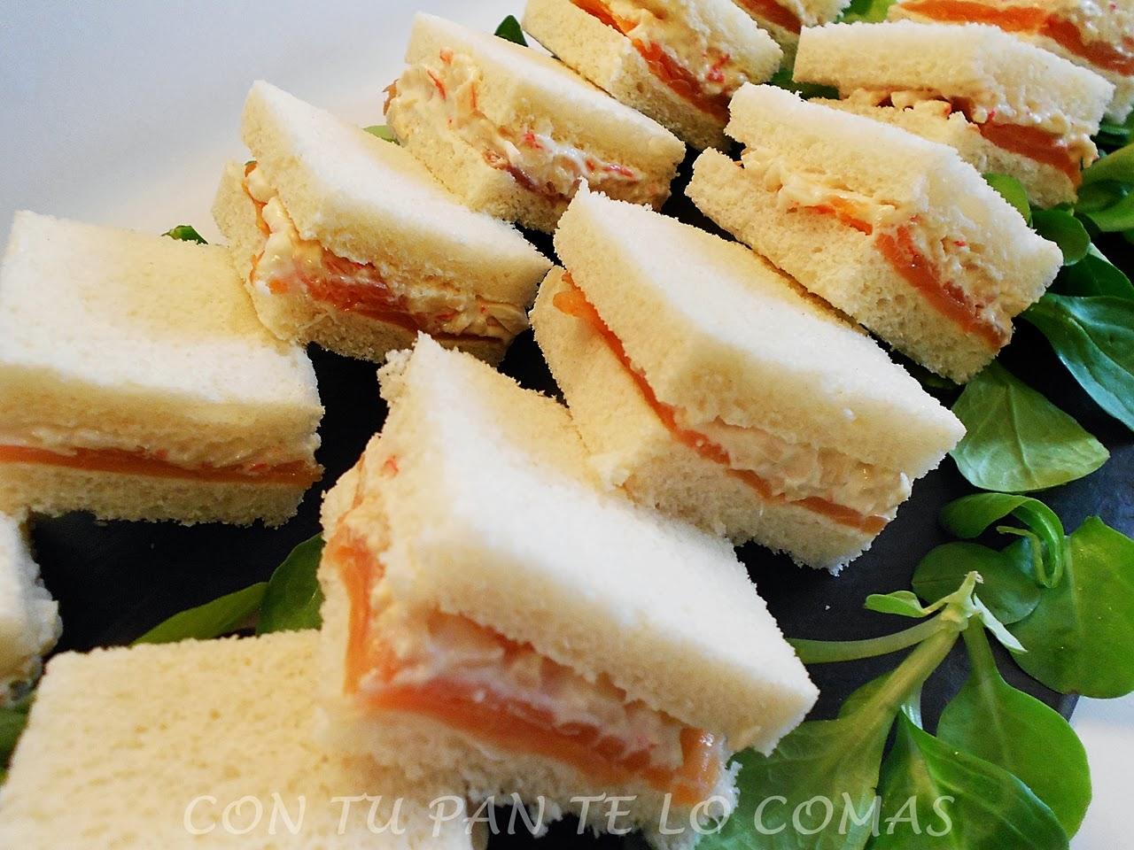 Con tu pan te lo comas canapes de salm n con bocadelia for Canapes sencillos y rapidos