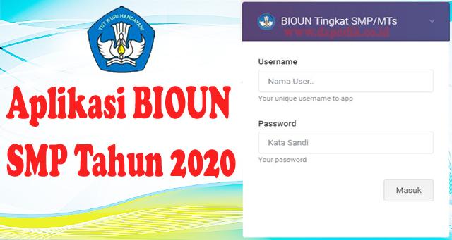 Aplikasi Bio UN SMP Offline (PDUN) Tahun 2020 Ujian Nasional UNBK Tahun 2019 / 2020