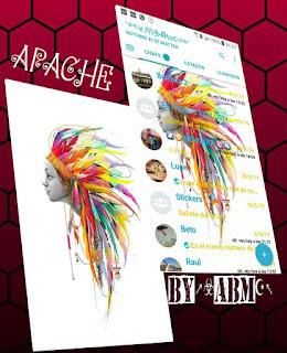 Apache Face Theme For YOWhatsApp & Fouad WhatsApp By ABM