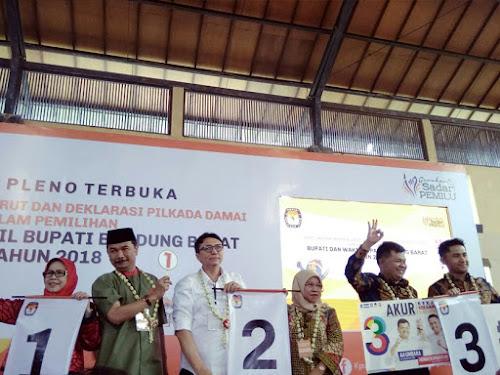 Nomor urut Pilbup Bandung Barat 2018